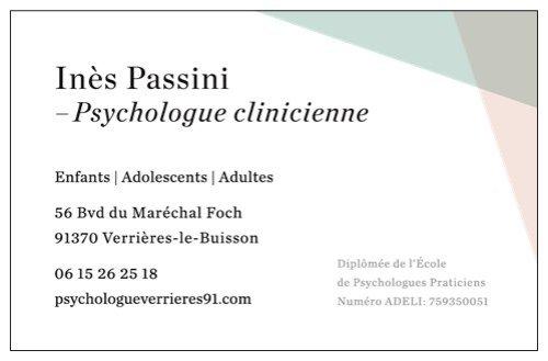 Inès Passini Psychologue Verrières le buisson Palaiseau Massy Igny Bièvres Antony Chatenay Malabry